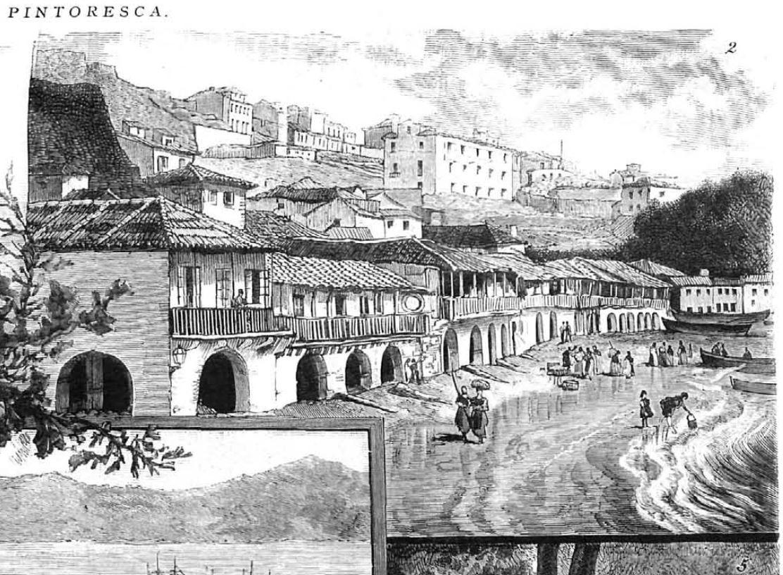 """Podemos facernos unha idea de como foi a ribeira do Berbés a través destas imaxes: unha da revista """"La Ilustración española y americana"""" e outra do cadro de Juan Martínez Abades """"Recogida de algas en la ribera del Berbés"""". #bibliotecas #museos #cultura #historia #cidade #Vigo"""