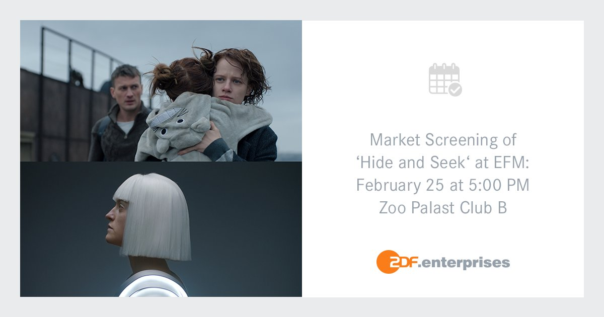 """Join the market screening of @filmuagroup's """"Hide and Seek"""" at this year's European Film Market during @berlinale on February 25 at 5:00 PM in Zoo Palast Berlin.  http:// bit.ly/2G1lvN5     #zdfenterprises #YuliaAbdelFattakh #PyotrRykov #VyacheslavDovzhenko #AleksandrKobzar<br>http://pic.twitter.com/TsxXXfho6c"""
