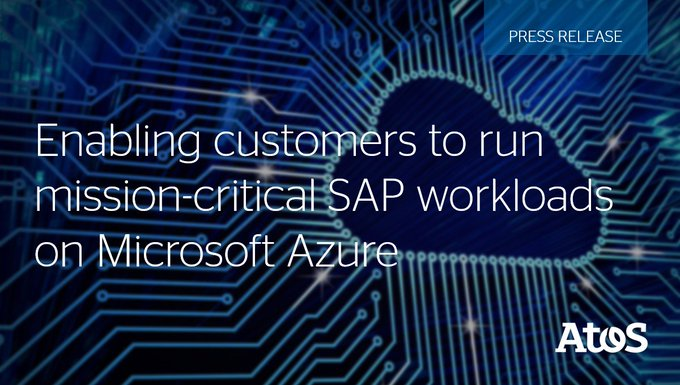 On #MicrosoftAzure, #Atos and #Microsoft will be targeting the deployment of #SAPHANA Very...