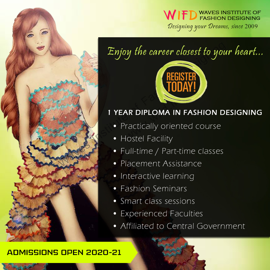 Waves Institute On Twitter Enjoy The Career Closest To Your Heart Join The Leading Women S Fashion Institute In Kerala Admissions Open For Fashion Designing At Providence Women S College Chavara Cultural Centre