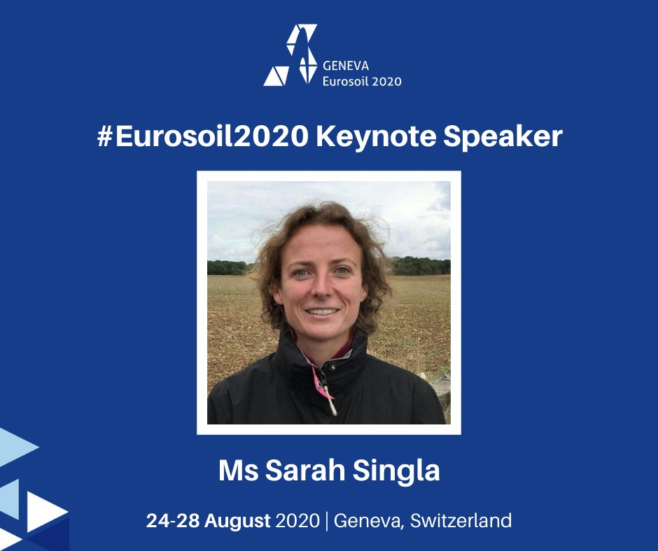 Introducing a #Eurosoil2020 Keynote Speaker: Ms Sarah Singla. Ms Singla is a farmer in Aveyron and co-founder of Clé de Sol Association. She is interested in soil fertility and direct seeding under vegetal cover. Find out more about our keynote speakers: http://ow.ly/zumG50y6RT4pic.twitter.com/gaKzMNddRU