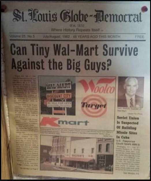 'Tiny' @Walmart you survived  1962 Article #ecommerce pic.twitter.com/sPcmgPsYBl