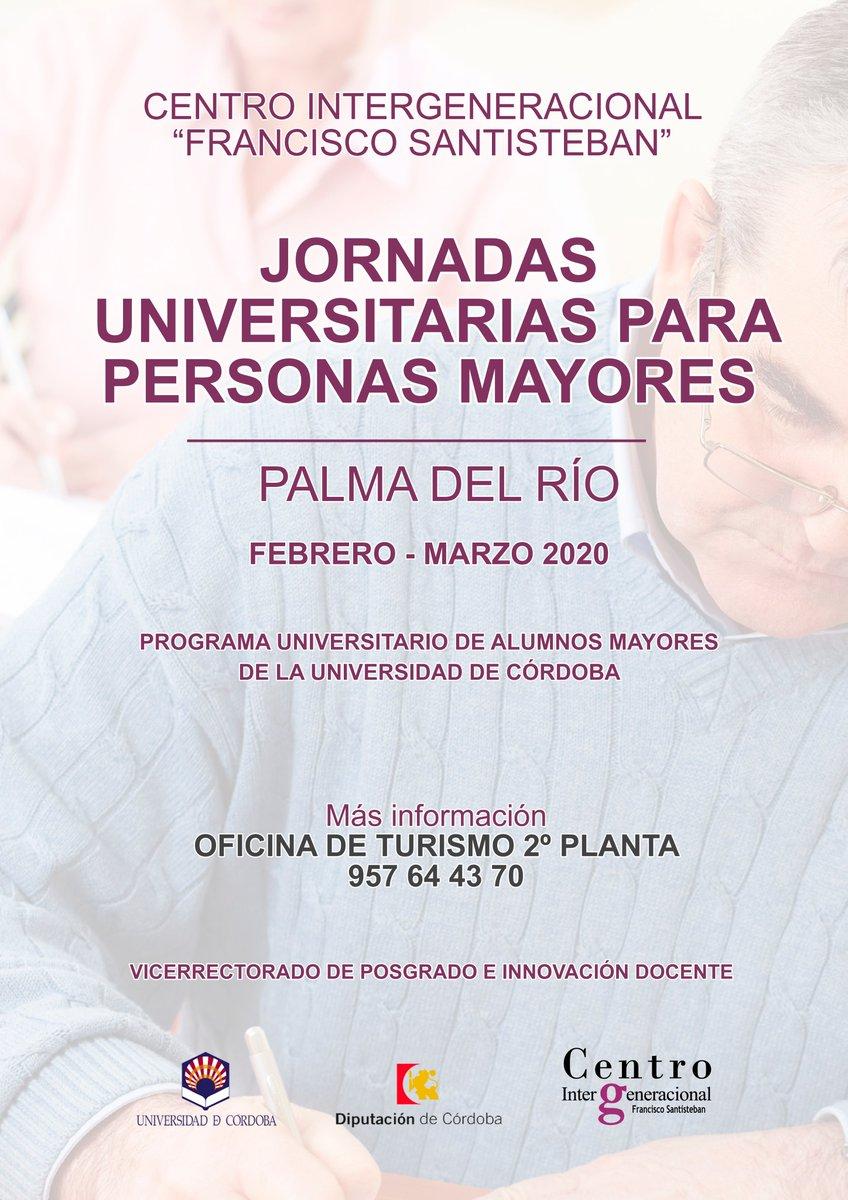 Esta tarde de 18:00 a 20:00 horas en la #OficinaDeTurismo de #PalmaDelRío se celebrará el #primer #seminario de las #jornadas universitarias para personas mayores de la Universidad de Córdoba: La #formación de #España en la Edad Media por D. #Ricardo Córdoba de la Llave.