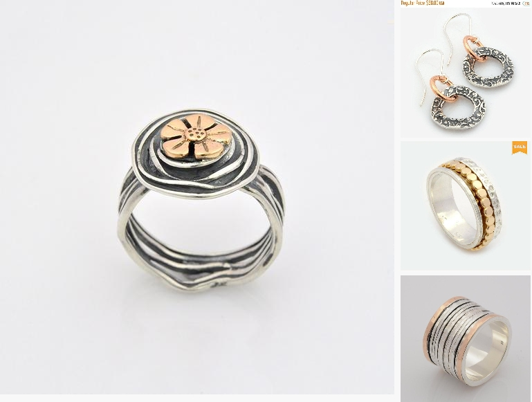 Silver and Gold Flower Ring, Floral Silver ring, #jewelry #ring @EtsyMktgTool https://etsy.me/2Da4BHU #sterlingsilver #promiserings pic.twitter.com/vFZBVqfUdk