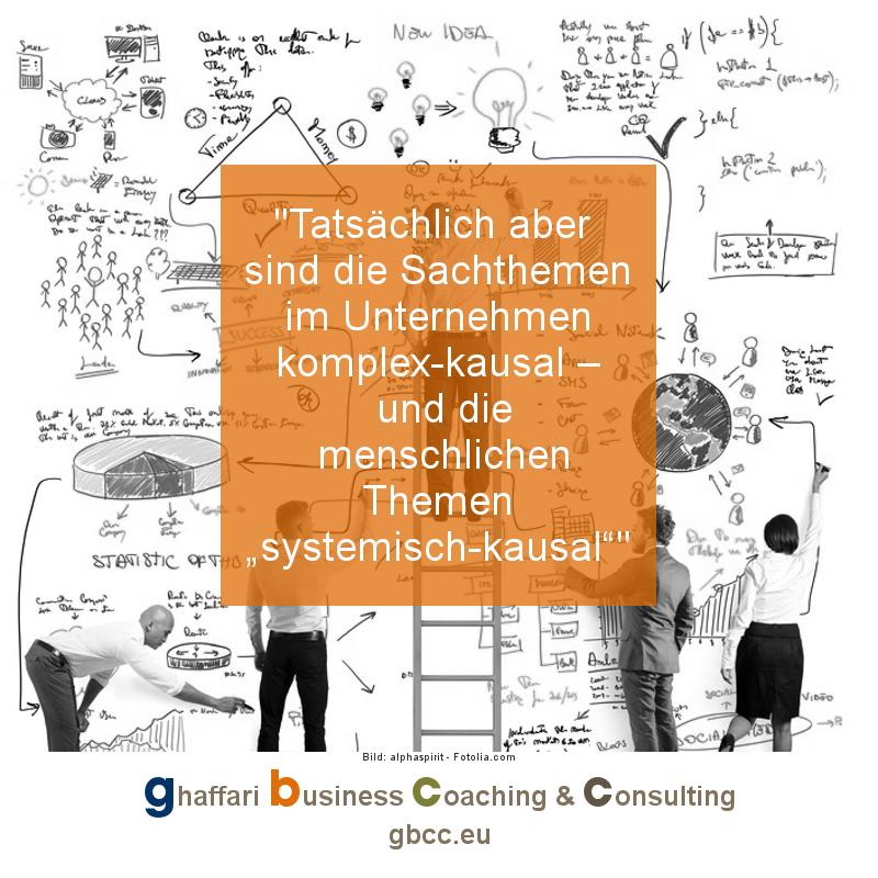 """Tatsächlich aber sind die Sachthemen im Unternehmen komplex-kausal – und die menschlichen Themen """"systemisch-kausal""""'  #unternehmer #business #management #manager https://www.gbcc.eu/8219/pic.twitter.com/1zPt9rNyFn"""