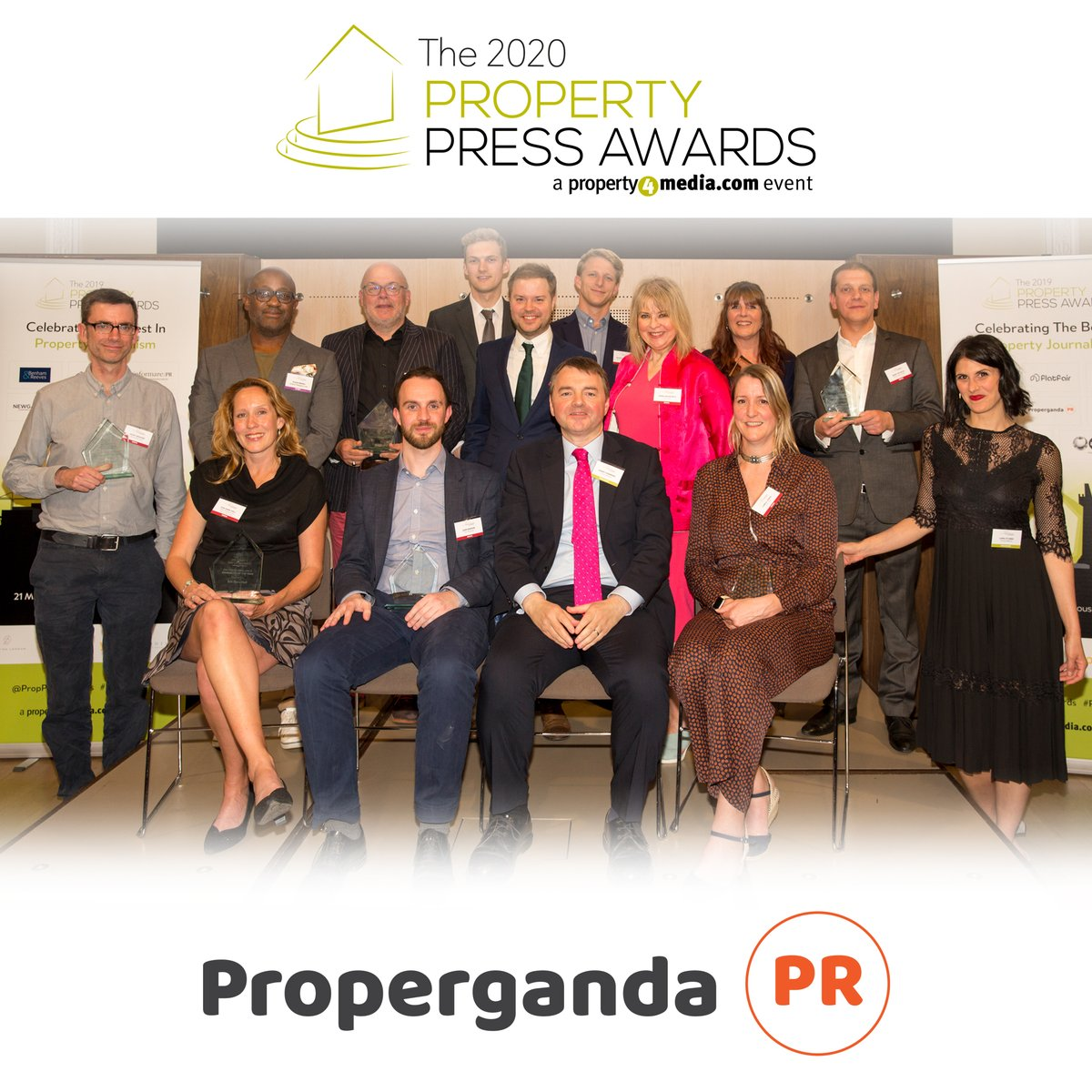 Delighted to be supporting the (responsible) alcohol intake at this years #PropertyPressAwards