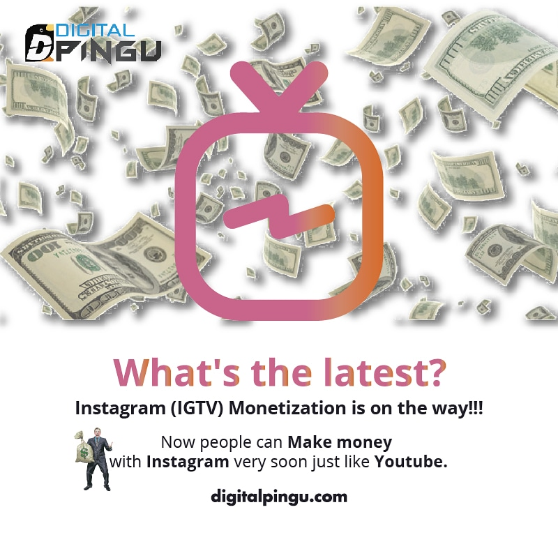 What's the latest? Instagram (IGTV) Monetization is on the way!!! now people can make money with Instagram very soon... just like Youtube.  #instagram #instagramers #instagramhub #instagrammers #instagramer #instagramanet #instagrammer #instagramphotos #instagrammarketingpic.twitter.com/RdVRjDGEe6