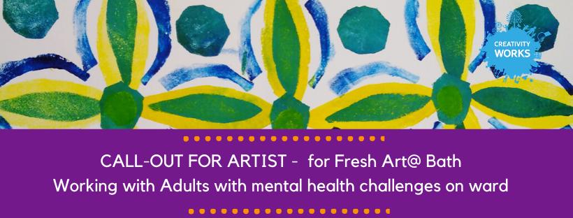 Job Opportunity: On Ward Artist for FreshArt@ Bath. DEADLINE: Midnight Sunday 23rd Feb 2020.   Full details: http://ow.ly/TsJZ50yp6WJ #bath #job #artist #mentalhealth #freshart #creativitypic.twitter.com/a3zntGphtZ