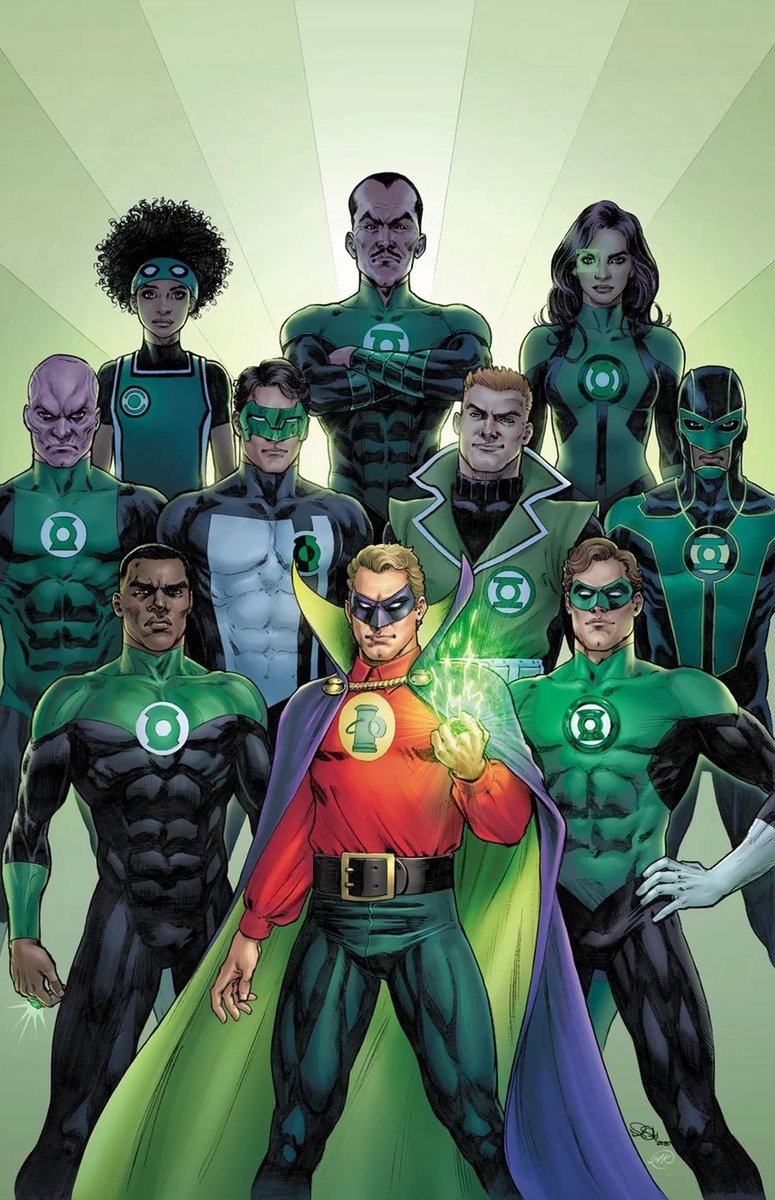 Why is Teen Lantern in this line-up? She's not even a recognized/true member of the GLC. She hacked a power battery with a laptop to get its powers. At least Alan being there is correct as he's an honorary memberpic.twitter.com/op9uPlBLZs