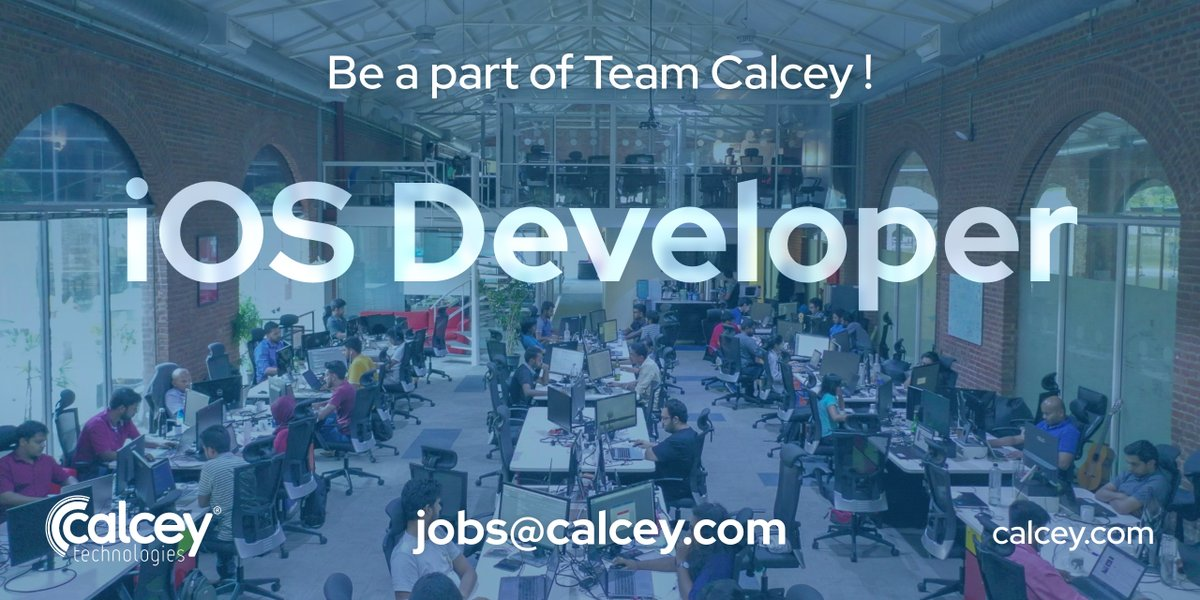 We have an immediate opening for an iOS developer. Come join our growing team. Send your CV to jobs@calcey.com #iOSdeveloper #Careers #Calcey   https://www. calcey.com/careers/ios-de veloper/  … <br>http://pic.twitter.com/8eu5AH0Rke