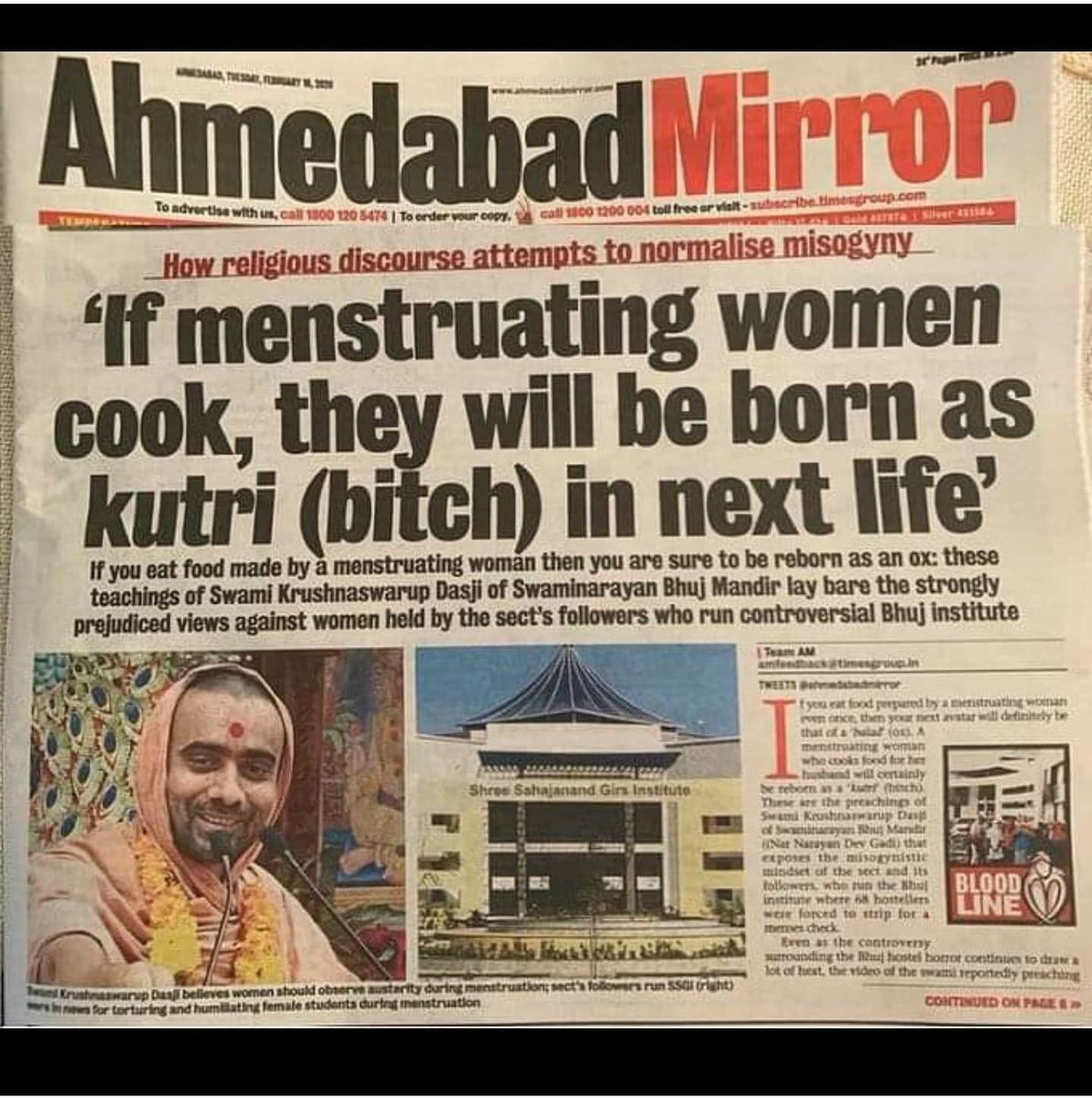 Now This! The Constitution of India prohibits discrimination against women and yet these abhorrent practices around menstruation continues. If you think this needs to stop, express your support. #menstruationmatters@goonj @IJaising @karunanundy @Nidhi @fayedsouza @unwomenindia
