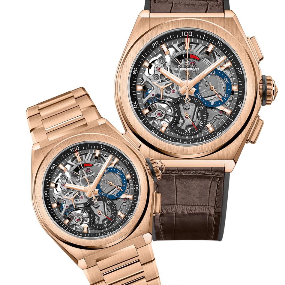 Nový zlatý standard vysokofrekvenčních chronografů: DEFY El Primero 21 z 18karátového růžového zlata a pásku z aligátoří kůže. Tam, kde se prolíná tradice a inovace.  #zenithpic.twitter.com/POFIAaqbVQ