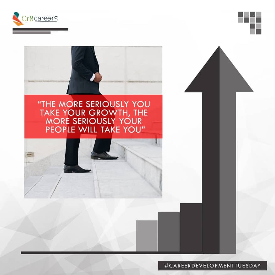 The More Seriously You Take Your Growth, The More Seriously People Will Take You| #CareerDevelopmentTuesday .  Follow Us @Cr8Careers . #Recruitment #Outsourcing #Assessments #OccupationalInterests #HRNigeria #naijabrandchick #hustlersquare #tuesdays #Career #Developmentpic.twitter.com/8kmvGVAnKx