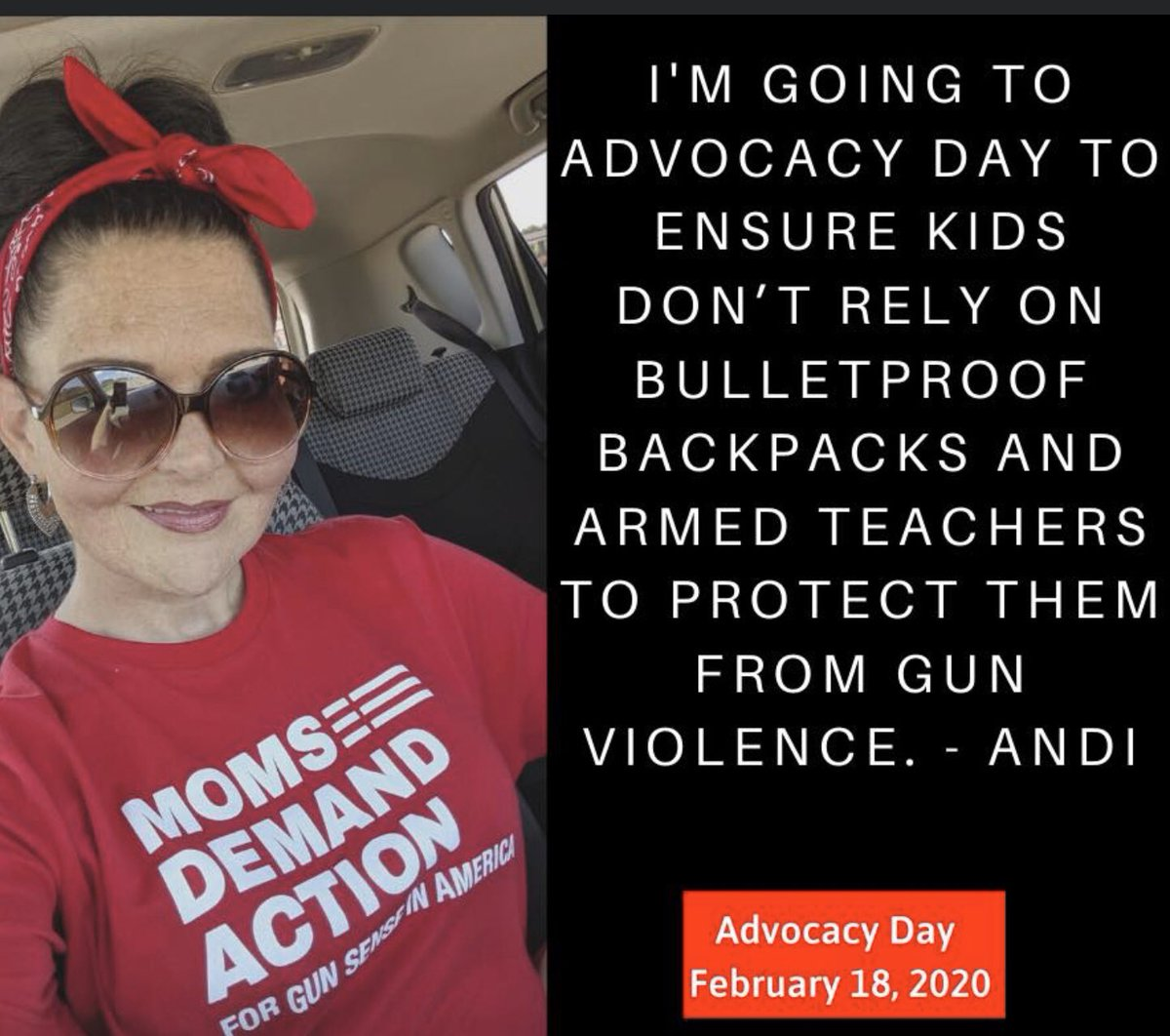 Up at 5 this morning for coffee and a shower before I leave to attend Advocacy Day in OKC! We're going to keep fighting for common sense gun reform!  #GunControlNow <br>http://pic.twitter.com/TnzC4jQHSq