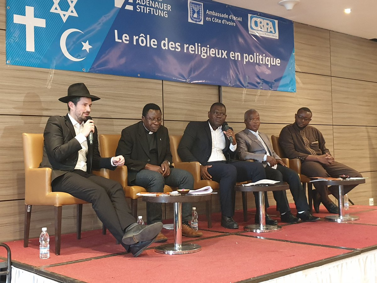 What is the role of #religion in the political process?  Can religion create stability in a changing political environment?    The 3rd edition of the Inter-Religous Dialogue  in #cotedivoire pic.twitter.com/E2xrPDtdmb