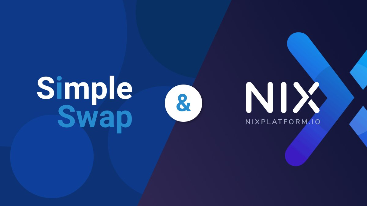 We are proud to announce that $NIX is available on @SimpleSwap_io  Let's swap some #NIX 👻