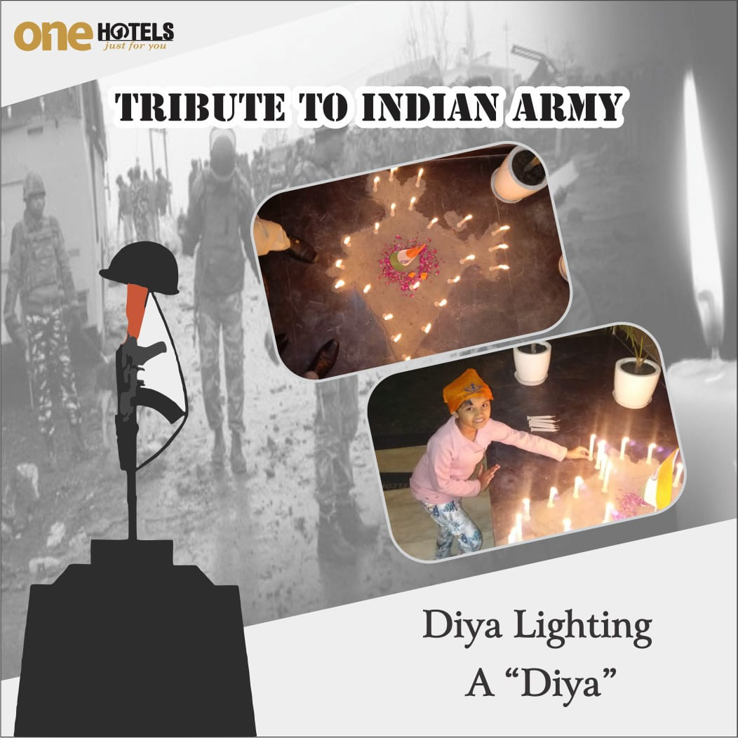 """One Hotels pay """"TRIBUTE TO INDAIN ARMY SOLDIERS DIED IN PULWAMA ATTACK"""" - One Hotels GG Regency in Amritsar, Punjab. Book now at http://onehotels.in or Contact us us at +91 8881766780 / justforyou@onehotels.in#tributes #amritsar #PulwamaAttack #indianarmy #Soldiers #Punjab"""