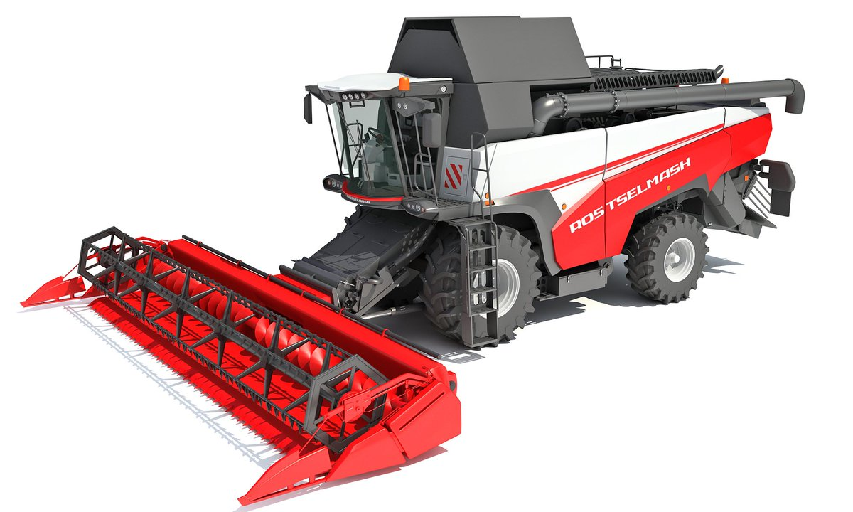 Combine Harvester 3D Model #3d #3dmodels #3dmodel #3ds #3dsmax #3dmodeling #combine #rostselmash #agriculture #harvester #harvest #tractor #forage #agricultural #corn #field #agro #farming #farm #machine #crop #wheat #cereal #cutting #hay
