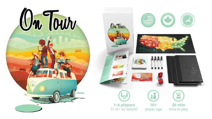 On tour is back on Kickstarter - https://boooored.com/kickstarter/on-tour-is-back-on-kickstarter/ … #boardgames #boardgamegeek #tabletoppic.twitter.com/X77ndiwAJZ