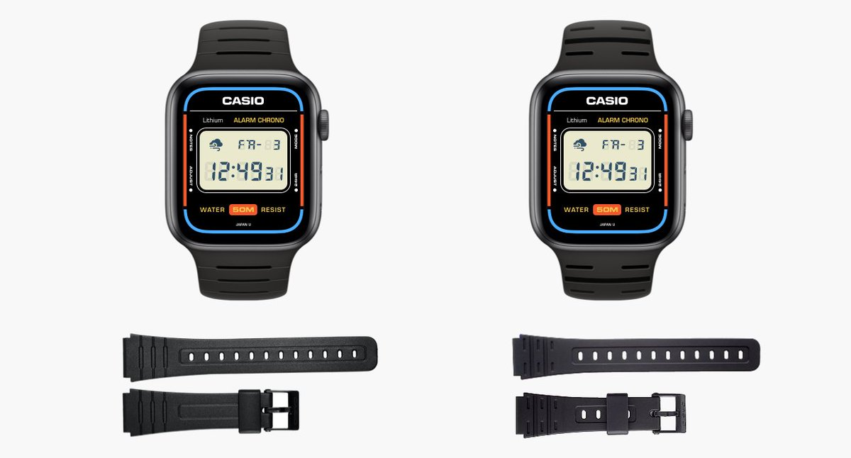 めっちゃ良いやんけ...Apple WatchのCASIOフェイス。(習作)Designing an Apple Watch Face