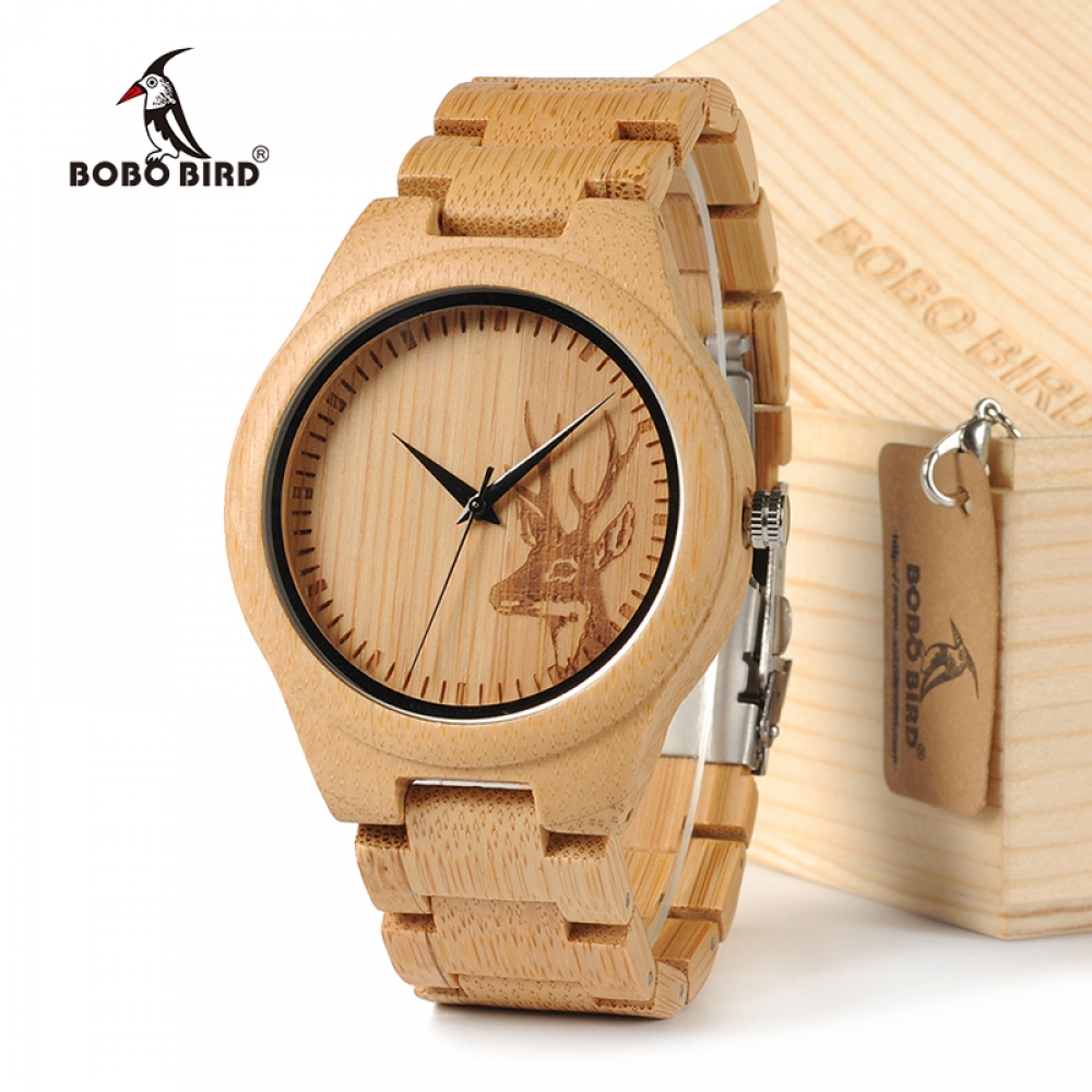 #accessories #jewelry #luxurywatches BOBOBIRD D28 Natural Bamboo Wood Watches With Deer Head Engrave Dial With Bamboo Strap For Gift https://www.wooden-watches.biz/bobobird-d28-natural-bamboo-wood-watches/ …pic.twitter.com/P8TsSDFhPP