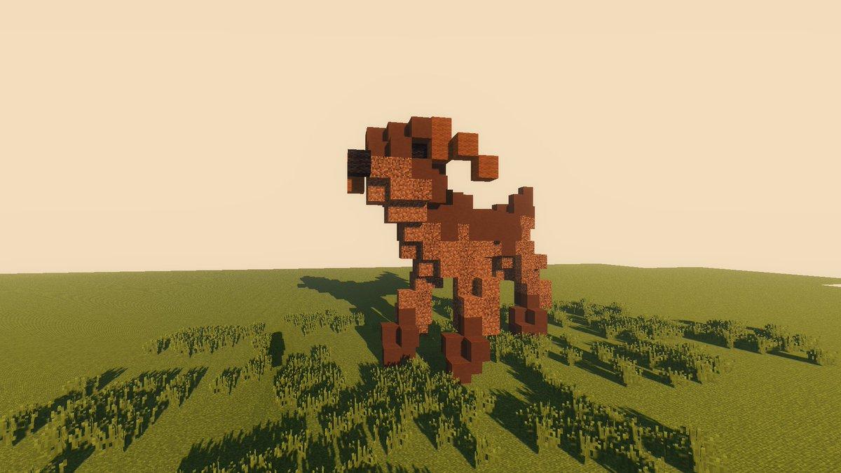 犬作ってみました🐶#Minecraft #minecraft建築コミュ