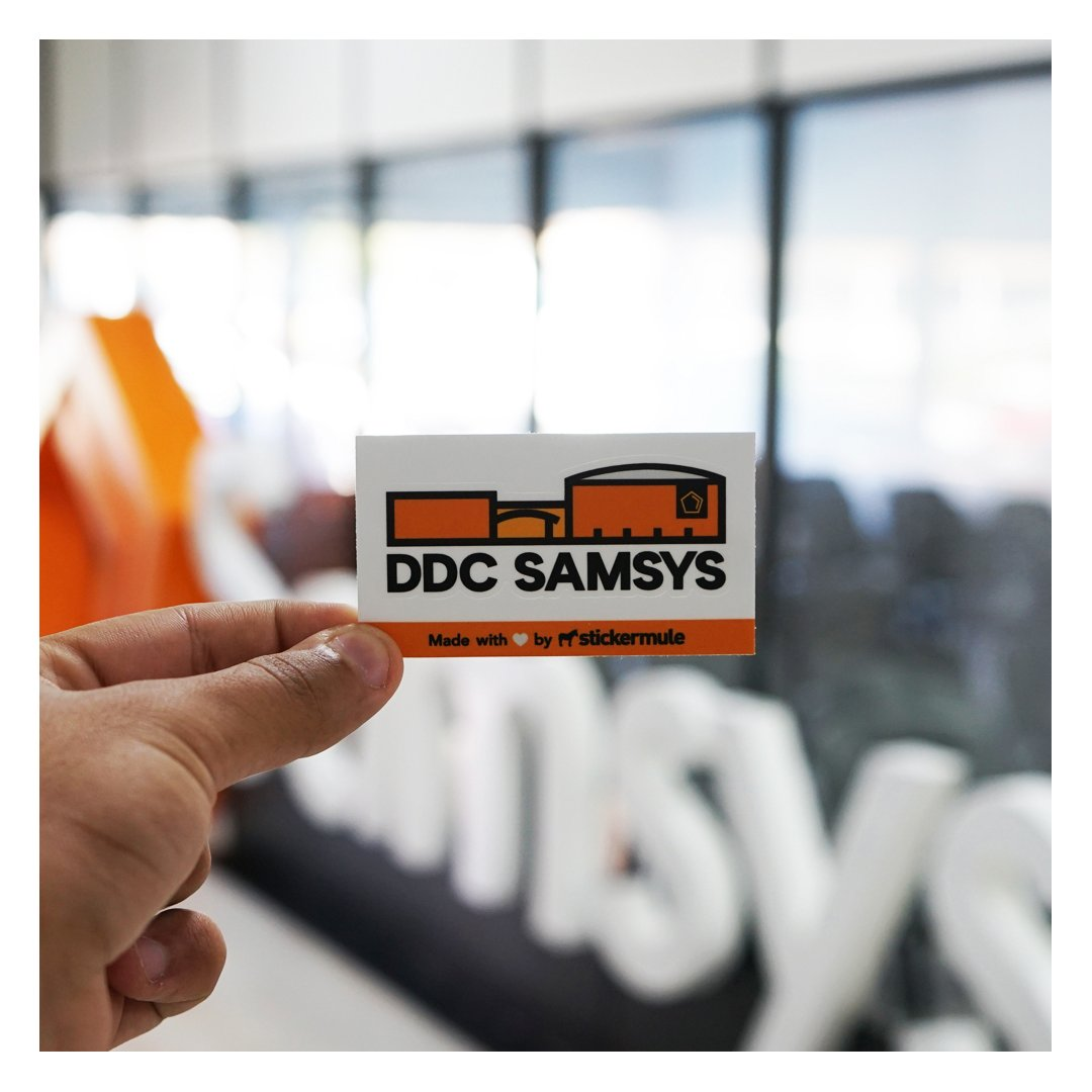 What's your opinion about our fresh new stickers that we're going to offer to our attendees at DDC Samsys this year? 😃  Made with tons of love by @stickermule  - One of our official partners this year. ♥️  More info at https://t.co/LxnfbTbYUM   #sticker #stickermule #ddcsamsys https://t.co/yX7pRjLnHI