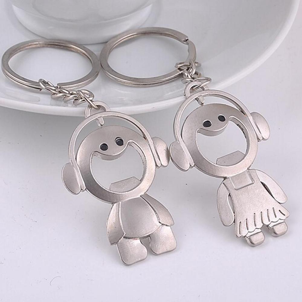 #model #girl 1 Pair Cute Design Bottle Opener Metal Keychain
