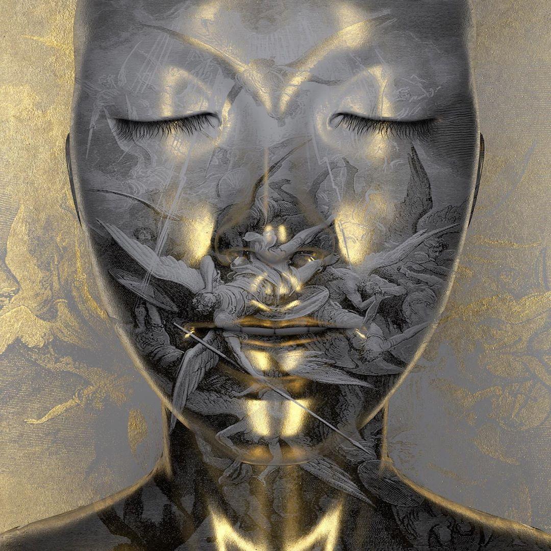 @gregoireameyer Golden Silence #sculpture #white & #gold #golden #portrait #mind #dailyrender #grey #face #woman #3d #c4d #3dart #3dartist #cgi #computerart #3dmodel #3dsculpting #render #digitalart #digitalarts #art #artist #artistsoninstagram #instarender #instaart