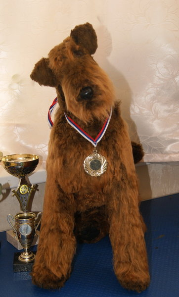 Airedale Terrier Remmy by Natalia   #teddydogs #OOAK #dog