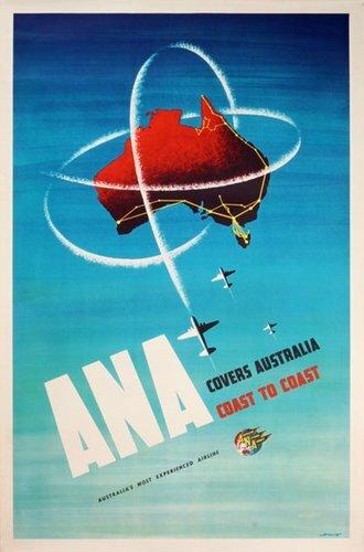 New Oceana #vintageposter ANA Australian National Airways covers Australia coast to coast #posterteam More info here: http://bit.ly/2ws7Ufypic.twitter.com/6FTL9He1Ol