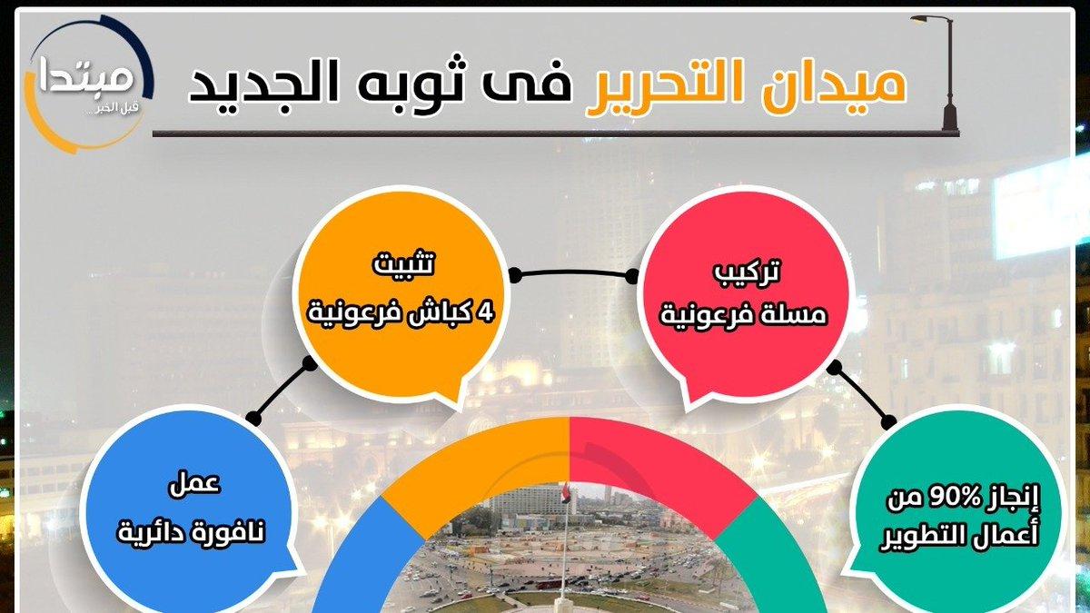 #مبتدا إنفوجراف .. #ميدان_التحرير فى ثوبه الجديد