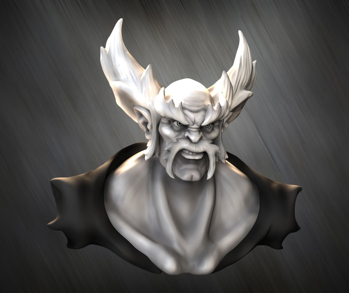 #WIP Speed sculpt of Heihachi Mishima our favorite grandpa from #Tekken . Concept by Tim Moreels. I hope you like it 💪✨ . #Heihachi #fight #3dmodeling #Zbrush #sculpt #3dart #3d