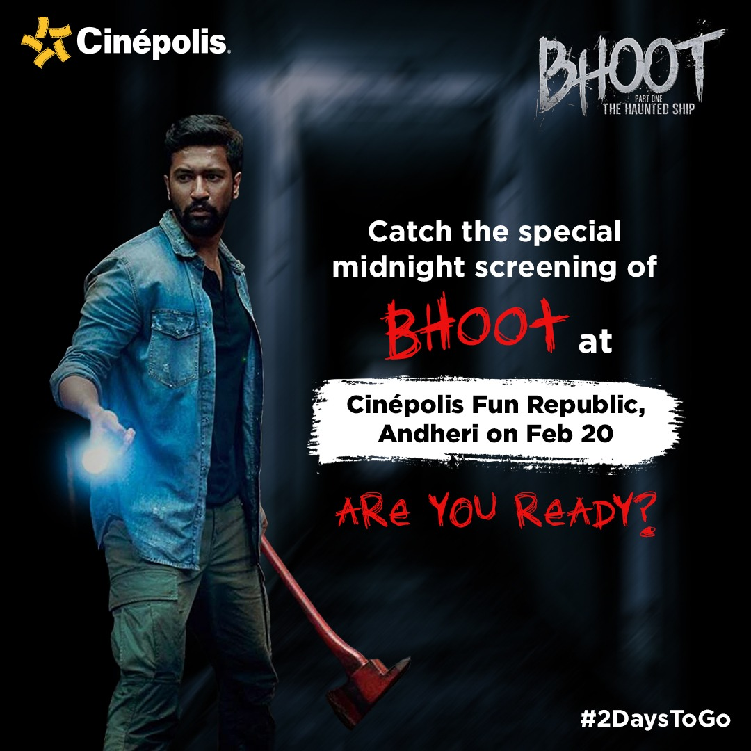 Get a chance to be a part of the midnight screening of #Bhoot Part One - #TheHauntedShip.  Use the Facebook/Snapchat filter, post your image/videos & you can be the lucky one!  Try the filters here:  http://bit.ly/BhootFbFilter  http://bit.ly/BhootSnapFilter