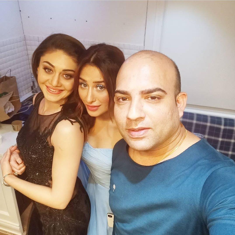 Bts of stunner @officialmahira2 and @shefalijariwala with @abhinav_tanwarr on the day of grand finale.  #MahiraSharma #ShefaliJariwala  #Mahirians #BiggBoss13