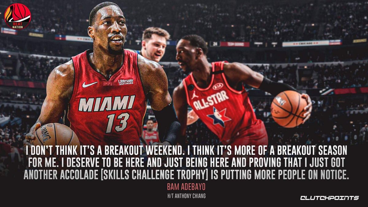 Bam Adebayo has more than proven this season that he is a legit star in the league.   #HEATTwitter  #Heat<br>http://pic.twitter.com/xeLsLSREXJ