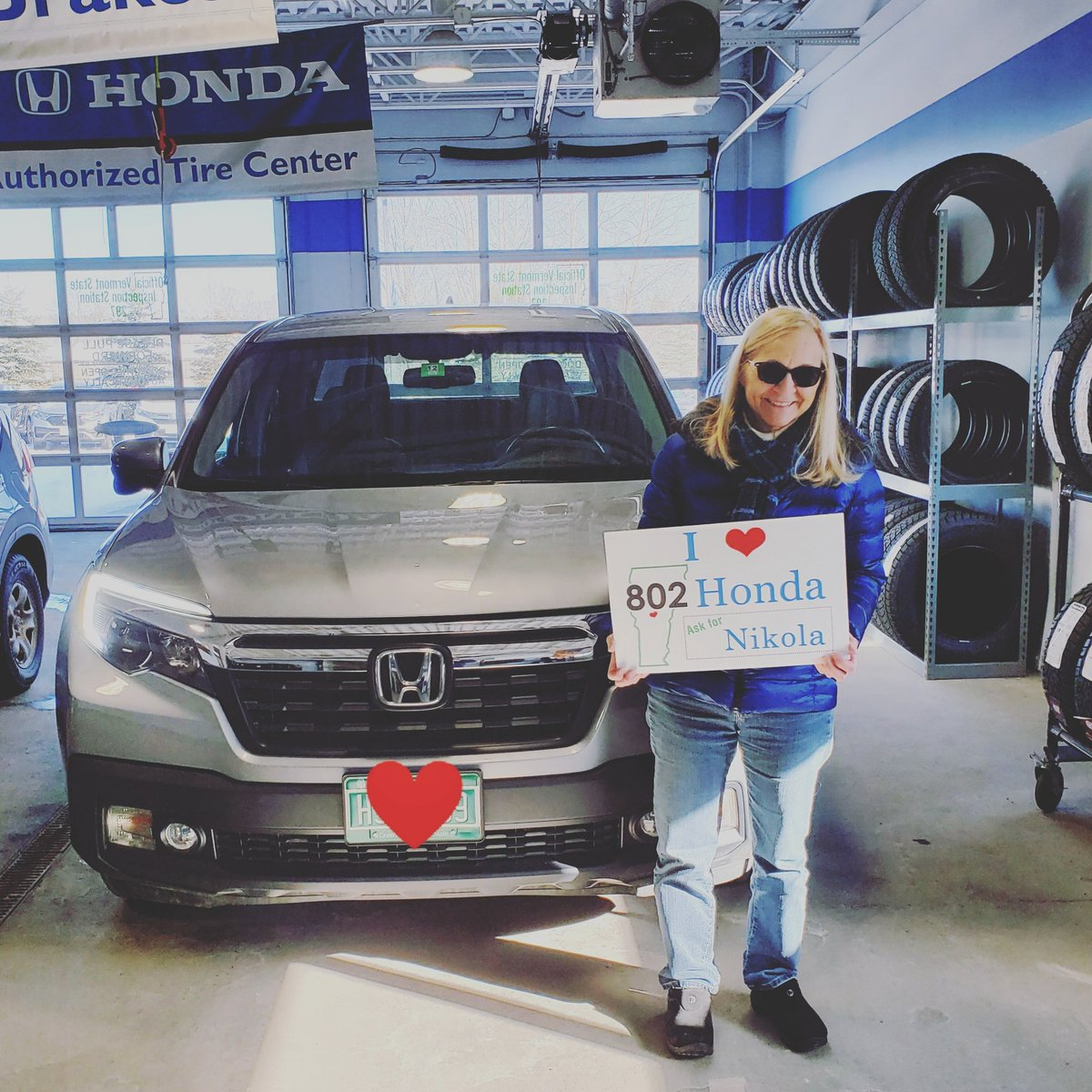Thank you Norma for purchasing your new #hondaridgeline and working with Nikola Banovich! Be sure to #askfornikola by giving him a call today at (802)391-3452!! #ilove802honda ❤🛣🚙👍💯