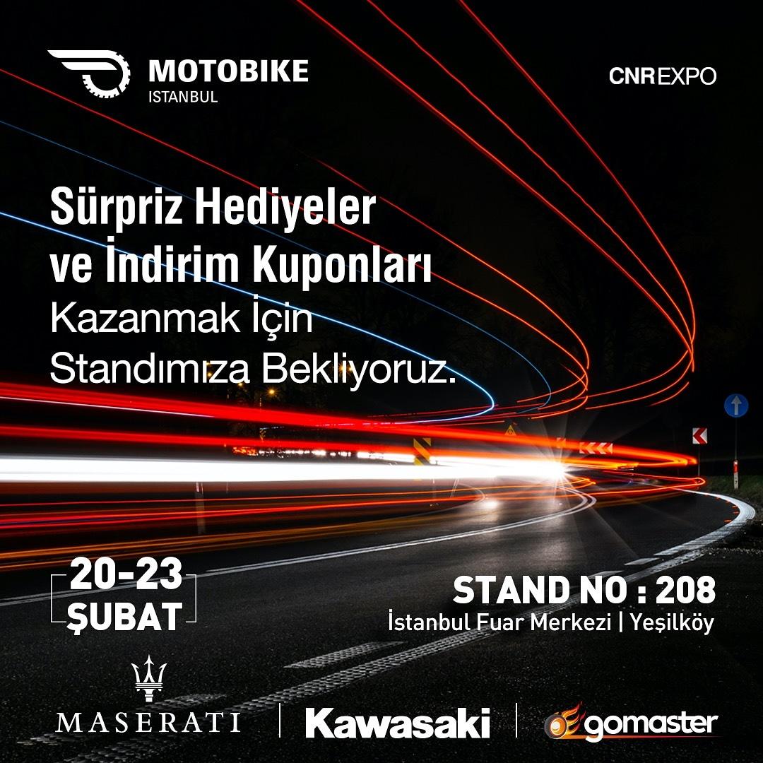 Kalbi özgürlük için çarpan herkesi standımıza bekliyoruz. Motobike 2020 Fuarı Fuaye Alanı Stand 208 İstanbul Yeşilköy Fuar Merkezi. #Kawasaki #Maserati #GoMaster https://t.co/gEhvqBnxL6