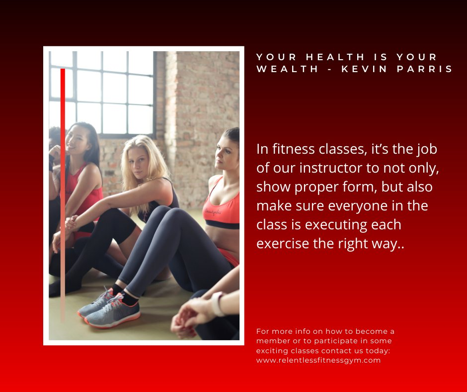 In fitness classes, it's the job of our instructor to not only, show proper form, but also make sure everyone in the class is executing each exercise the right way. #fitnessgoal #fitnessfirst #fitnesstips #FitnessTrainer #fitnesslover pic.twitter.com/dRZQy8l3Um