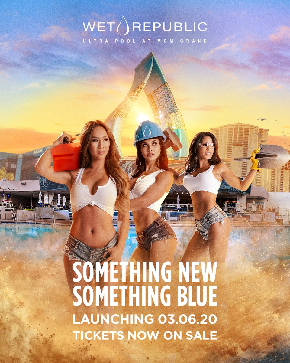 Just when you thought this party couldn't get any better. Something New, Something Blue launching Friday, March 6th💧 #Wet2020  Tickets: wet.re/buytickets hakkasangroup.com/store/las-vega…