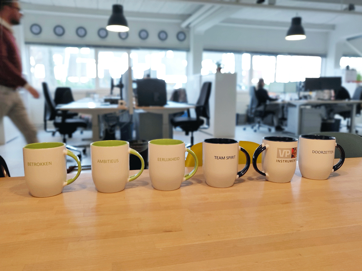 New coffee mugs to remind us of our core values. Cheers!  For those of you who don't read Dutch, you can check out our core values here: https://zcu.io/3PtJ    #CoreValues #CompressedAir #EnergySavings pic.twitter.com/QnRTvXWqXP