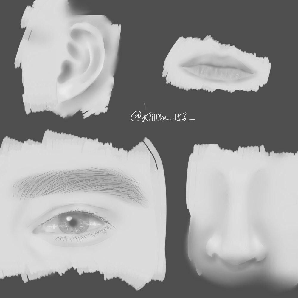 Practice. #drawing #draw #doodle #sketch #art #eye #ear #lip #nose