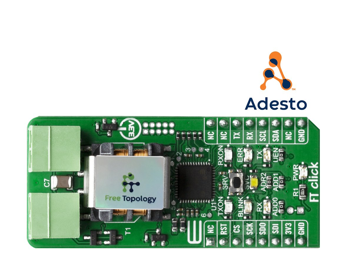 You can now prototype thousands of #IoT applications with our new FT Click board, the plug-and-play tool using our FT 6050 SoC. See why Free Topology is the most reliable, scalable, and easy-to-install wired communication technology on the market.  https:// hubs.ly/H0n2tG80      #IIoT <br>http://pic.twitter.com/Ro96A1vyXI