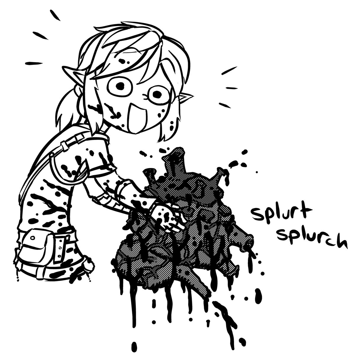 After I killed that Lynel I *did* find all his guts.  #breathofthewild #link #fanart #drawing