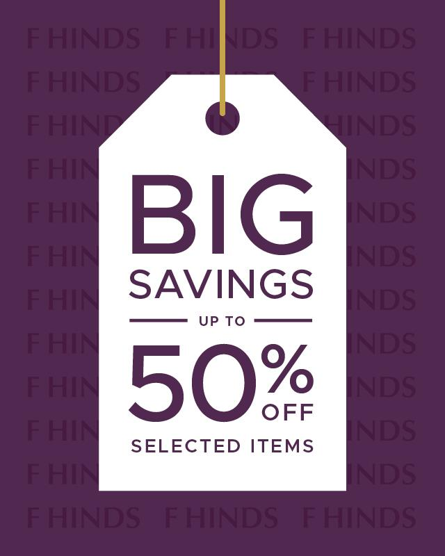 From sparkling #diamonds  to stylish #watches , shop up to 50% off selected items in the @fhindsjewellers  winter sale! 🛍️