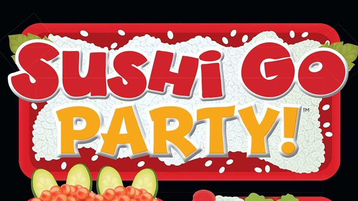 Sushi Go Party!: Pass the sushi! In this fast-playing card game, the goal is to grab the best combination of sushi dishes as they whiz by. Coming to Sovranti! #boardgame #boardgames #digitalboardgames #digitalgames #games #sovranti #sushi #sushigoparty #sushigo #virtualgames