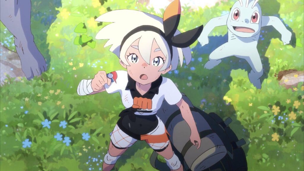 It looks as though Bea might have ended up in the Isle of Armor from the Pokemon Sword and Shield expansion pass at the end of the new anime short ??