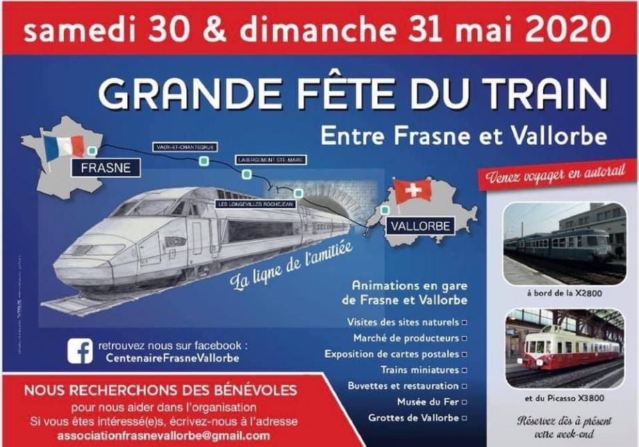 Dimanche 31 mai 2020 : Frasne Vallorbe - Fête du Rail pic.twitter.com/rnGnthyr8f