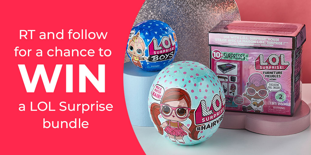Who wants to WIN this fab LOL SURPRISE bundle? To ENTER simply RT, FOLLOW & TAG a friend with #winstudio in the comments   You can also check out all our toys & games here https://bddy.me/3bQ1QNW  UK only. Ends 01/03/20 ⠀  #Toys #Games #HalfTerm #LOLSurprise #Giveaway #Win