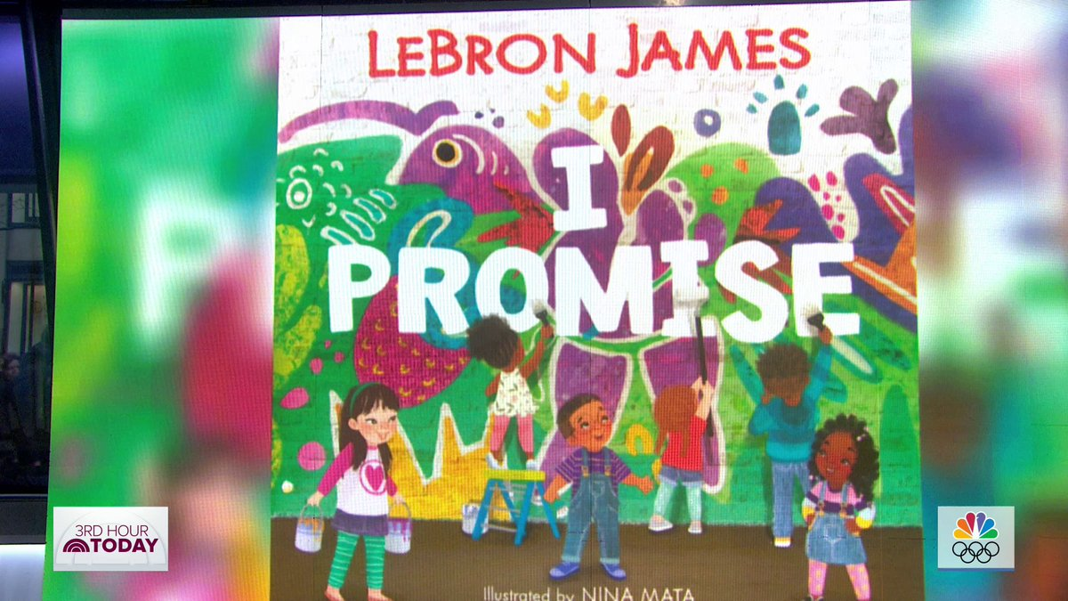NBA star @KingJames will be adding childrens book author to his long list of accomplishments! We have the first look at the I, Promise book, which will be out in August.